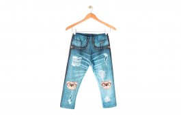 Imagem - Legging Bebê Suplex Estampa Sublimada Jeans