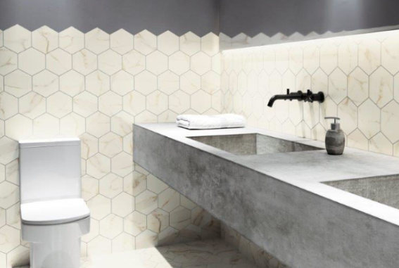 Imagem - Dê um toque vintage aos seus projetos com revestimentos hexagonais