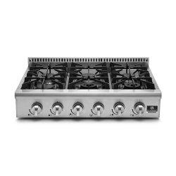 Imagem - Rangetop Professional 90cm 127v - ELETTROMEC cód: 7898593935433-RT-6Q-90-XP-1HXA