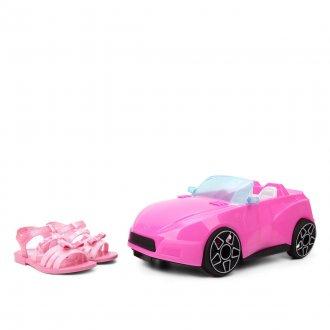 Imagem - Sandália Infantil Grendene Barbie Pink Car REF 22166 - 274402