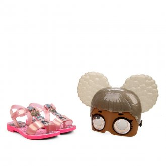 Imagem - Sandália Infantil Grendene Menina Lol Mask Surprise com óculos 22243 - 275947
