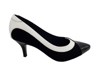 Imagem - Sapato Feminino Modare Salto Médio Ultra Conforto Preto e Branco - 184483