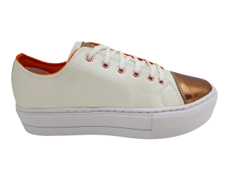 Imagem - Tênis Feminino Amábile Shoes Flatform com detalhe metalizado SPT529A - 270187