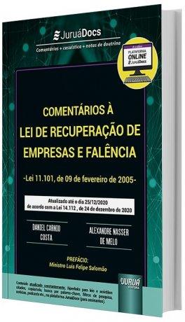 Comentários à Lei de Recuperação de Empresas e Falência atualizado - Lei nº 14.112/20 Nova Lei de Falências