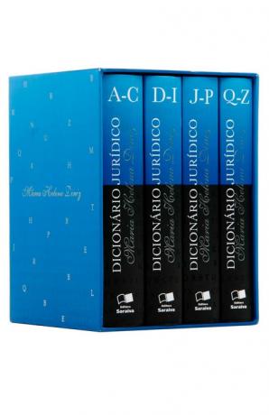 Dicionário jurídico - 4 volumes - 3ª Edição