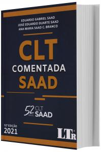 Imagem - Clt Comentada Saad 52ª Edição 2021