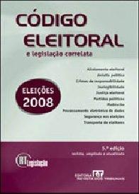 Imagem - CÓDIGO ELEITORAL E LEGISLAÇÃO CORRELATA