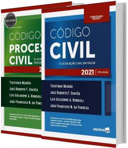Imagem - Combo Código Civil e Processo Civil - Legislação em Vigor - Edição 2021