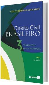 Imagem - Direito Civil Brasileiro - Contratos e Atos Unilaterais V. 3 2021