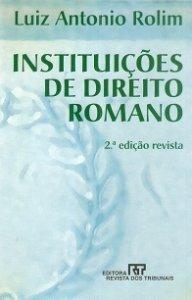 Imagem - Instituições de Direito Romano
