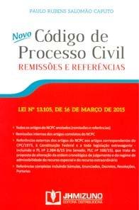 Imagem - Novo Código de Processo Civil Remissões e Referências