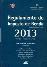 Imagem - Regulamento do Imposto de Renda Anotado e Comentado - 2013