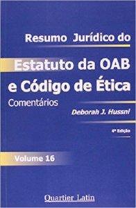 Imagem - Resumo Jurídico de Estatuto da OAB e Código de Ética - V. 16