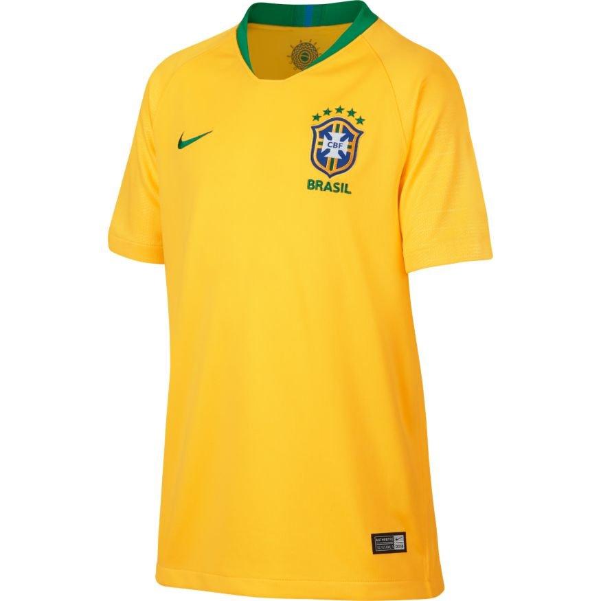 0b70759e1769e Camisa Nike Brasil I 2018 19 Torcedor Infantil 893970