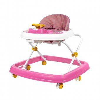 Imagem - Andador Infantil Styll Baby Branco e Rosa