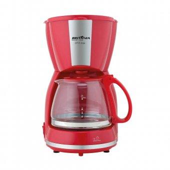 Imagem - Cafeteira Britânia CP15 Inox 15 Xícaras Vermelha
