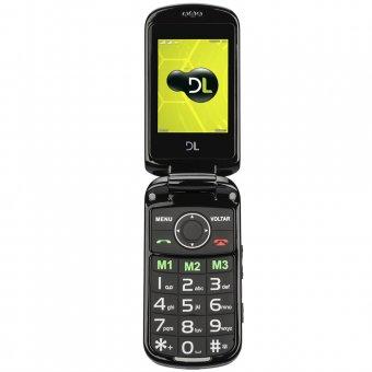 Imagem - Celular DL Dual Sim YC130 SOS Startac Preto