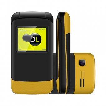 Imagem - Celular DL Dual Sim YC230 Flip Amarelo