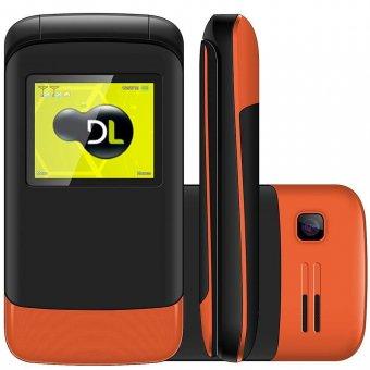 Imagem - Celular DL Dual Sim YC230 Flip Laranja