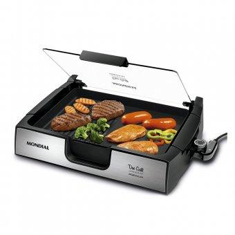 Imagem - Chapa Mondial Due Grill Inox Premium G-10 1270W 220V