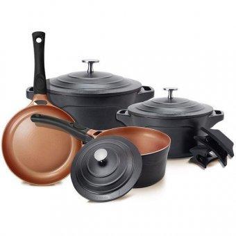 Imagem - Jogos de Panelas Le Cook Premier Black LC1849