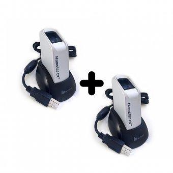 Imagem - Kit 2 Leitores Biométricos Fingkey Hamster DX Nitgen