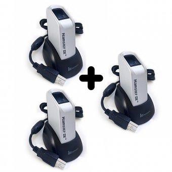 Imagem - Kit 3 Leitores Biométricos Fingkey Hamster DX Nitgen