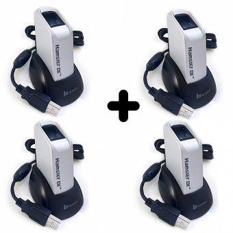 Imagem - Kit 4 Leitores Biométricos Fingkey Hamster DX Nitgen