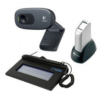 Imagem - Kit Impressão Carteira de Trabalho e Previdência Social CTPS ( Biometria + WebCam + Coletor de As...