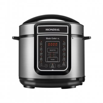 Imagem - Panela de Pressão Elétrica Mondial Digital Master Cooker 5L PE-38 900W 220V