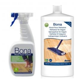 Imagem - BONA - KIT RENOVADOR BRILHO 1LT + SPRAY CLEANER 1LT