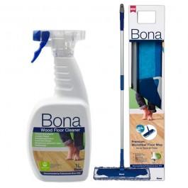 Imagem - BONA - KIT MOP COMPLETO REFIL DE MICROFIBRA + CLEANER SPRAY 1LT