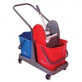Imagem - Balde com Espremedor Doblô 50L Azul e Vermelho