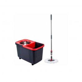 Imagem - Balde Espremedor Centrifuga Inox Pro 8Lts Com Refil Microfibra - Sem Pedal