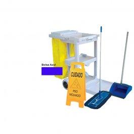 Imagem - Carrinho de Limpeza Multifuncional - Kit Mop Seco