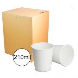 Imagem - Copo Papel 210ml Caixa 20x50unidades FNS Cup Branco