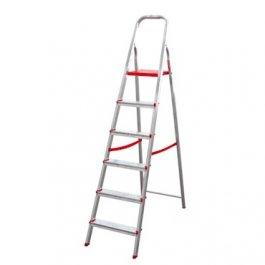 Imagem - Escada Aluminio Dupla 6 Degraus