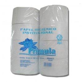 Imagem - Papel Higiênico Institucional Branco Luxo Primula Fardo com 8 Rolos de 300m cada