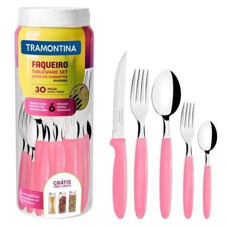 Faqueiro Ipanema Rosa 30 Peças Tramontina