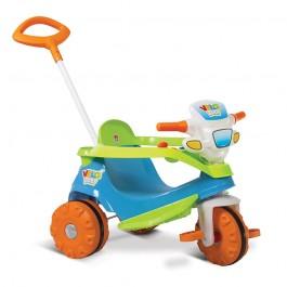 Imagem - Triciclo Velobaby Azul Passeio e Pedal Bandeirante cód: 016843