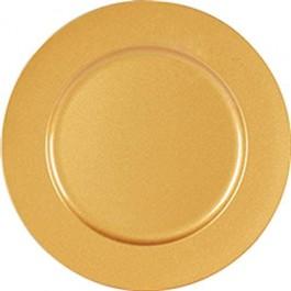 Imagem - Sousplat Redondo Dourado Fosco 33cm Yangzi cód: 017523