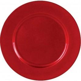 Imagem - Sousplat Redondo Vermelho Fosco 33cm Yangzi cód: 017524