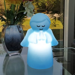 Imagem - Luminária Anjo Azul 14x20x27cm Decorfun cód: 018746