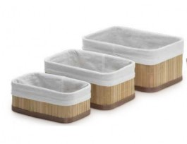 Imagem - Kit 3 Cestos Organizadores Bambu Mimo cód: 019590