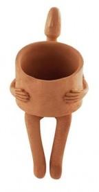 Imagem - Cachepô Homem com Vaso no Colo Mart cód: 020398