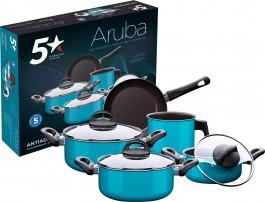 Imagem - Jogo de Panelas 5 peças Antiaderente Aruba New 5 Estrelas cód: 000369