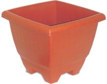 Imagem - Vaso Quadrado Cerâmico 14,5L Plasnew cód: 004096