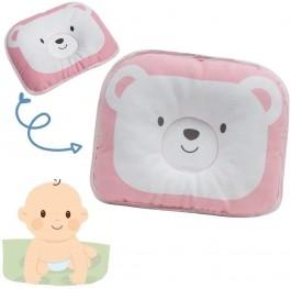 Imagem - Travesseiro Bebê Urso Rosa Buba cód: 008595