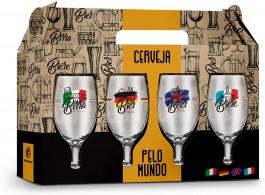Imagem - Jogo Taças Cerveja Mundo 4 Peças Brasfoot cód: 008677