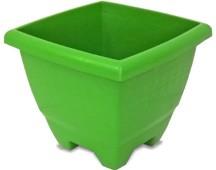Imagem - Vaso Quadrado Verde 14,5L Plasnew cód: 008780